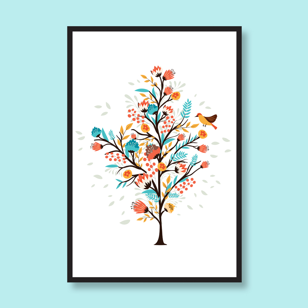 flower-tree-wall-art